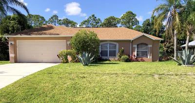 Port Saint Lucie Single Family Home For Sale: 1818 SW Success Street