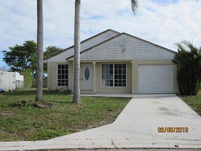 Boynton Beach Single Family Home For Sale: 5688 Pebble Brook Lane