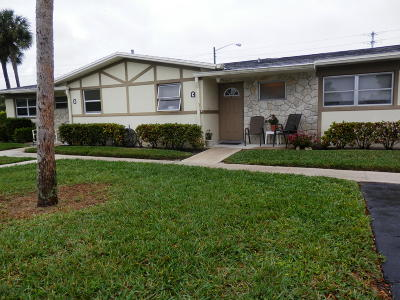 West Palm Beach Single Family Home For Sale: 2783 Ashley Drive W #C