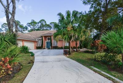 Jupiter Single Family Home For Sale: 19009 SE Old Trail Drive W