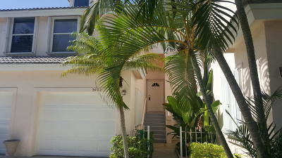 Jupiter Townhouse For Sale: 3602 Fairway Drive