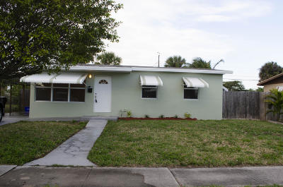 West Palm Beach Single Family Home For Sale: 1357 7th Street