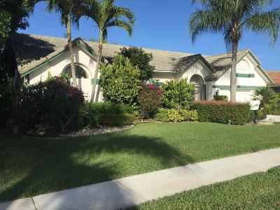 Boca Raton Single Family Home For Sale: 19537 Sedgefield Terrace