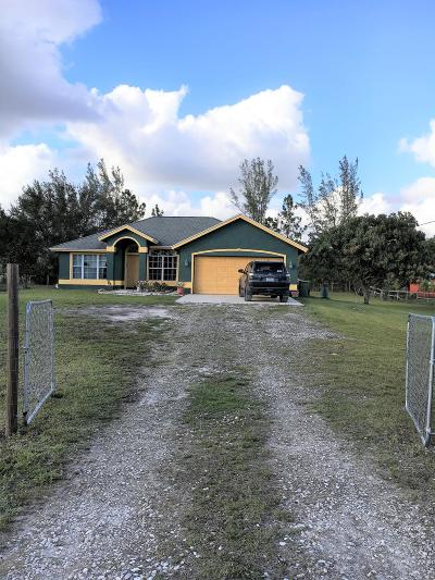 Loxahatchee Single Family Home For Sale: 16895 76th Street