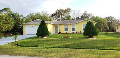 Port Saint Lucie Single Family Home For Sale: 1278 SW Marmore Avenue