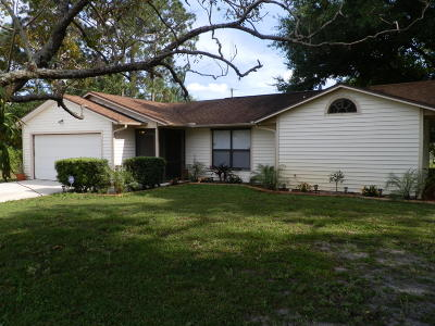 Port Saint Lucie Single Family Home For Sale: 1712 SW Starman Av Avenue