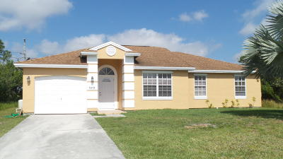 Port Saint Lucie FL Single Family Home Sold: $179,000