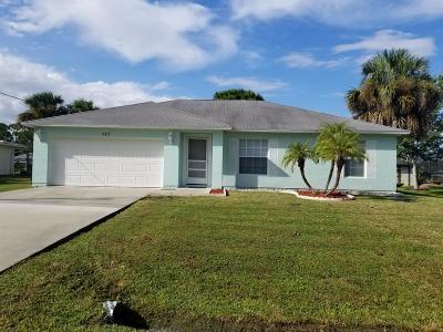 Port Saint Lucie Single Family Home Contingent: 543 SE Whitmore Drive