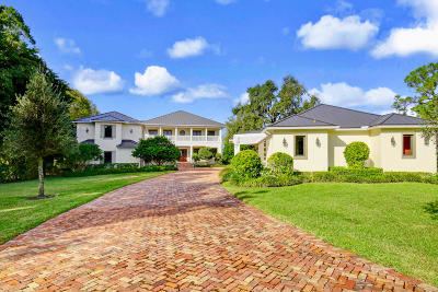 Jupiter Single Family Home For Sale: 5481 Pennock Point Road