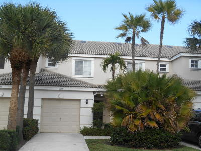 West Palm Beach Townhouse For Sale: 4611 Palmbrooke Circle