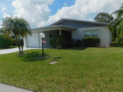 West Palm Beach Single Family Home Contingent: 3750 Da Vinci Circle