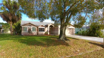 Port Saint Lucie, Saint Lucie West Single Family Home For Sale: 1901 SE Manth Lane