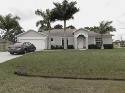Port Saint Lucie Single Family Home For Sale: 1592 SW Dow Lane