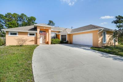 Port Saint Lucie Single Family Home For Sale: 1809 SW Whipple Avenue