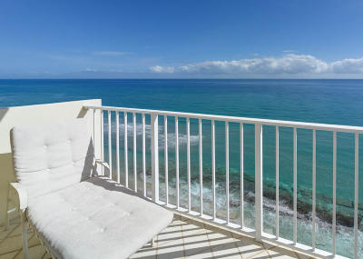 Highland Beach Condo For Sale: 4511 S Ocean Boulevard #1008