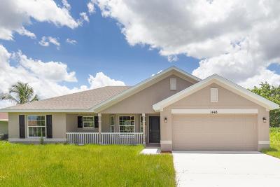 Port Saint Lucie Single Family Home For Sale: 1448 SE Bayharbor Street