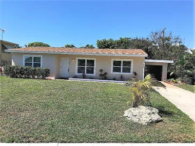 Lake Worth Single Family Home For Sale: 1707 High Ridge Road
