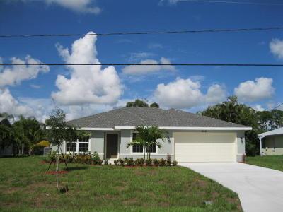 Port Saint Lucie Single Family Home For Sale: 1922 SE Fallon Drive