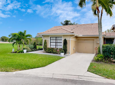 Boynton Beach Single Family Home For Sale: 9954 Watermill Circle #A