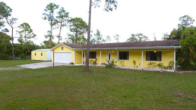 Jupiter Single Family Home For Sale: 18480 120th Terrace