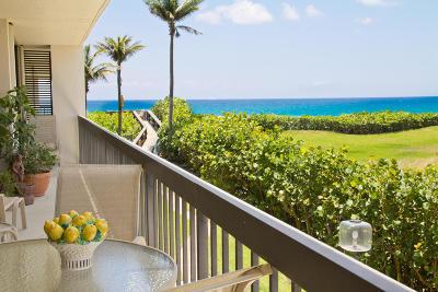 Palm Beach Condo For Sale: 3390 S Ocean Boulevard #202