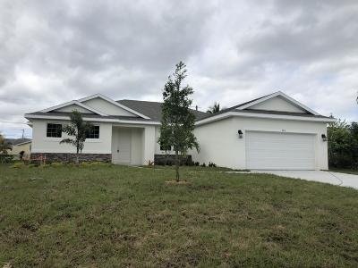 Port Saint Lucie Single Family Home For Sale: 568 SW Dairy Road