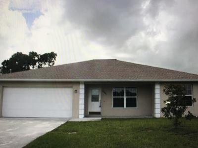 Port Saint Lucie Single Family Home For Sale: 1910 SW Dorado Lane
