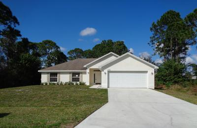 Port Saint Lucie Single Family Home For Sale: 1773 SW Haylake Avenue