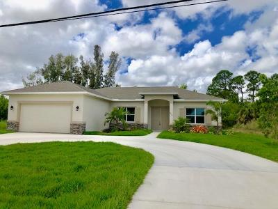 Port Saint Lucie Single Family Home For Sale: 274 NW Bayshore Boulevard