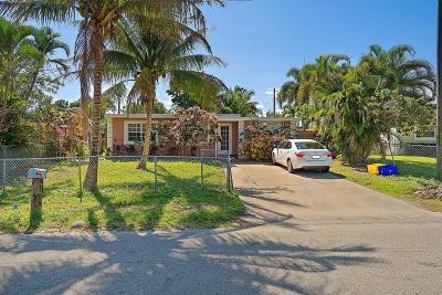 Boynton Beach Single Family Home Contingent: 220 Mentone Road