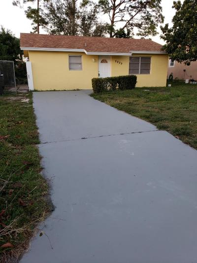 West Palm Beach FL Single Family Home For Sale: $189,900