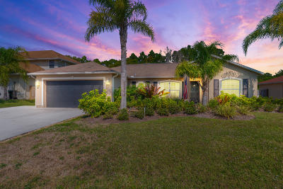Port Saint Lucie Single Family Home For Sale: 6720 NW Pinson Court