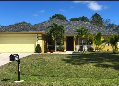 Port Saint Lucie Single Family Home For Sale: 2357 SW Fern Circle