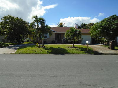 West Palm Beach Single Family Home For Sale: 324 Gregory Road