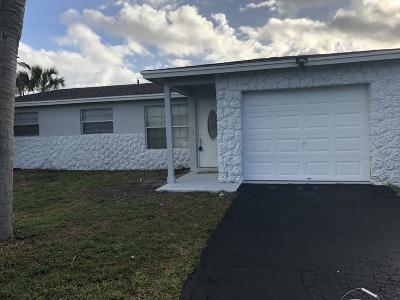 Lake Worth Single Family Home For Sale: 3398 Pinehurst Drive