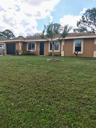 Port Saint Lucie Single Family Home For Sale: 568 SE Chapman Avenue