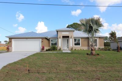 Port Saint Lucie Single Family Home For Sale: 1859 SW Dalmatian Avenue