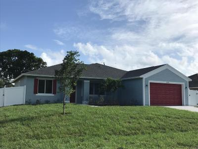 Port Saint Lucie Single Family Home For Sale: 1493 SW Herder Road