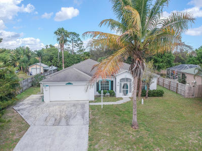 Port Saint Lucie Single Family Home For Sale: 487 SW Dauphin Avenue