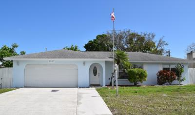 Port Saint Lucie Single Family Home For Sale: 1567 SE Cownie Street