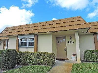 West Palm Beach Single Family Home For Sale: 5730 Fernley Drive E #35