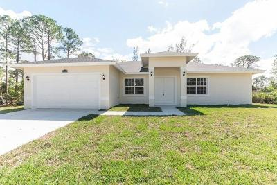 Loxahatchee Single Family Home For Sale: 17144 90th Street