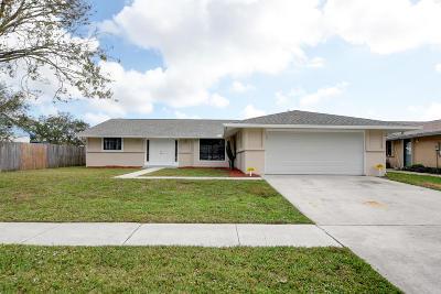 Boynton Beach Single Family Home Contingent: 8442 Mildred Drive W