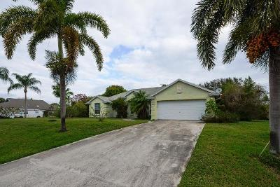 Port Saint Lucie Single Family Home For Auction: 2191 SE Pyramid Road