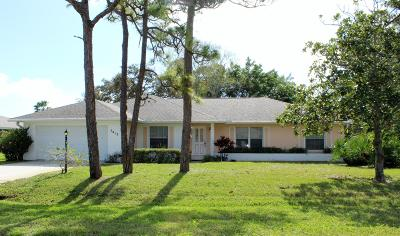 Fort Pierce Single Family Home For Sale: 5412 Eagle Drive