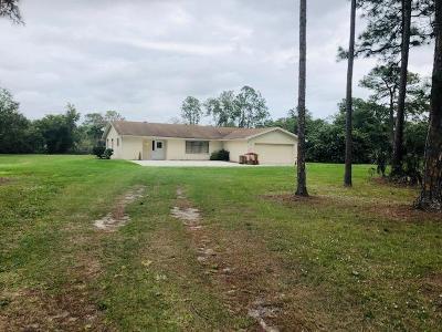 Jupiter Single Family Home For Sale: 12879 Sandy Run