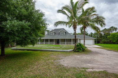 Jupiter Single Family Home For Sale: 12852 175th Road