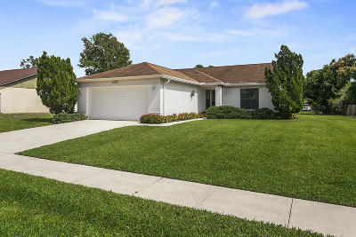 Royal Palm Beach Single Family Home Contingent: 1402 Mc Dermott Lane