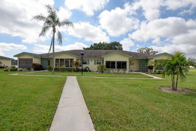 Delray Beach Single Family Home For Sale: 5360 Lakefront Boulevard #C