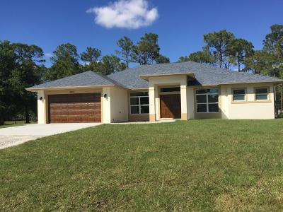 Loxahatchee Single Family Home For Sale: 16611 73rd Court